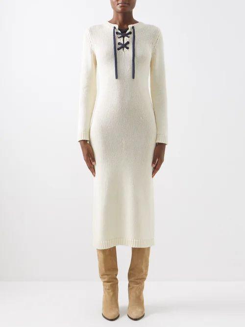 Tibi - Trench Quilted Denim Skirt - Womens - Denim