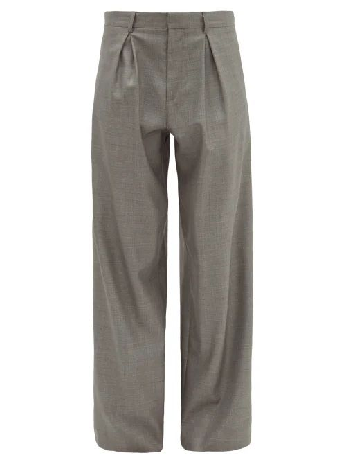 Jil Sander - Checked Midi Skirt - Womens - Red Multi