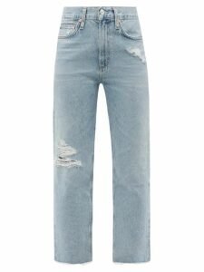 Jil Sander - Checked Midi Skirt - Womens - Red Multi