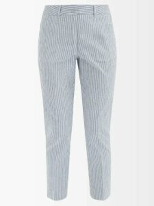 Sea - Calah High Rise Cotton Midi Skirt - Womens - Blue