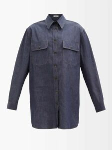 Marni - Striped Houndstooth Jacquard Midi Skirt - Womens - Pink Multi