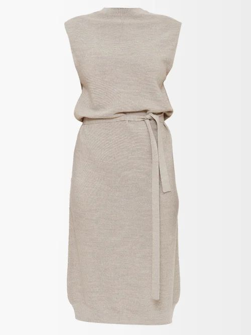 Gucci - Grosgrain Trimmed Leather Skirt - Womens - Black