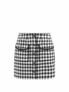 Roksanda - Shona Asymmetric Silk Satin Skirt - Womens - Orange Multi