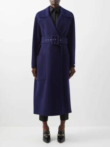 Erdem - Nesrine Facette Dream Bird Print Midi Skirt - Womens - Blue Multi