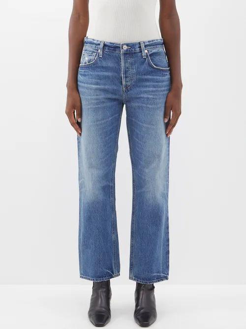 Altuzarra - Felice Dip Dye Midi Skirt - Womens - Black Multi
