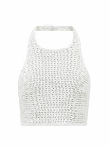 Marni - Bi Colour Belted Cotton Blend Dress - Womens - Pink Multi