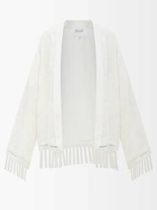 Erdem - Verna Rose Jacquard Gown - Womens - Blue Multi