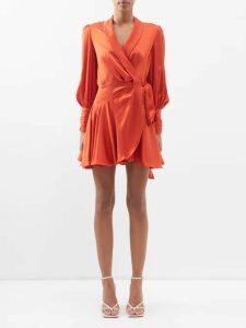 Giambattista Valli - Polka Dot Print Silk Chiffon Dress - Womens - Black White