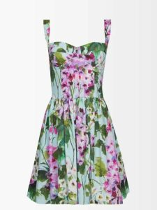 Dolce & Gabbana - Ruched Lamé Midi Dress - Womens - Bronze