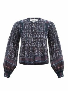 Burberry - Limehouse Shearling Trim Padded Coat - Womens - Grey