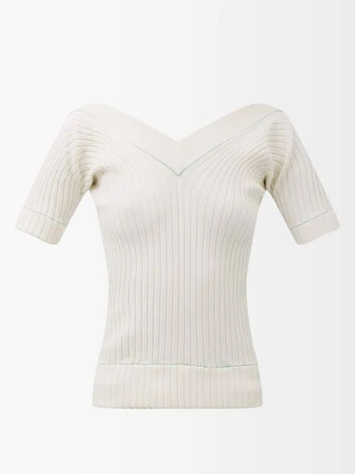 Rebecca Taylor - Ruffled Faux Leather Pencil Skirt - Womens - Black