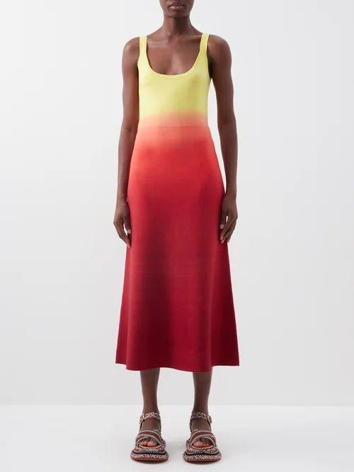 Dolce & Gabbana - Floral-print Jacquard Pencil Skirt - Womens - Black