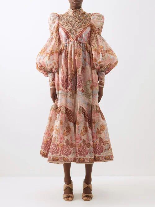 Alexander Mcqueen - Lace Trimmed Wool Blend Pencil Skirt - Womens - Black