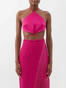 Raey - 1970s Shearling Coat - Womens - Orange