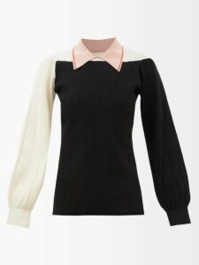 Isabel Marant - Andor Cog Print Stretch Silk Crepe Mini Dress - Womens - Black White