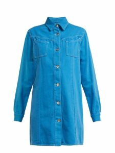 Ganni - Kress Cotton Shirtdress - Womens - Denim
