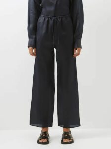 Sir - Marceau Polka Dot Silk Mini Dress - Womens - Navy