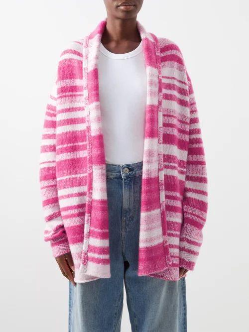 Alexander Mcqueen - Shell Print Lace Trimmed Wool Blend Twill Blazer - Womens - Black White