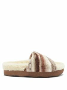 Carl Kapp - Frill Trim Tweed Blazer - Womens - Grey Multi
