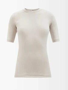 Givenchy - Double Breasted Checked Wool Blazer - Womens - Grey Multi