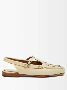 Sara Battaglia - Single Breasted Leopard Print Lamé Jacket - Womens - Leopard