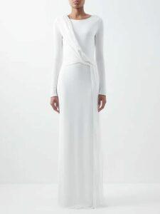 Joseph - Steed Single Breasted Wool Grain De Poudre Blazer - Womens - Black