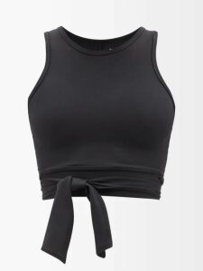 See By Chloé - Check Trimmed Cotton Trench Coat - Womens - Black