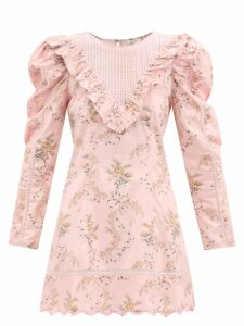Tibi - Finn Quilted Panel Cotton Trench Coat - Womens - Khaki