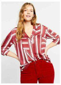 Striped pyjama-style shirt