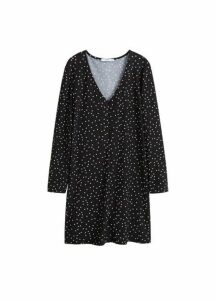 Button knit dress