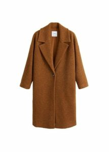 Unstructured virgin wool coat