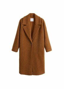 Unstructured virgin wool coat