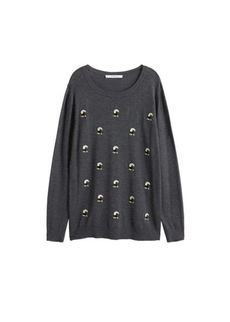 Toucan embroidered sweater
