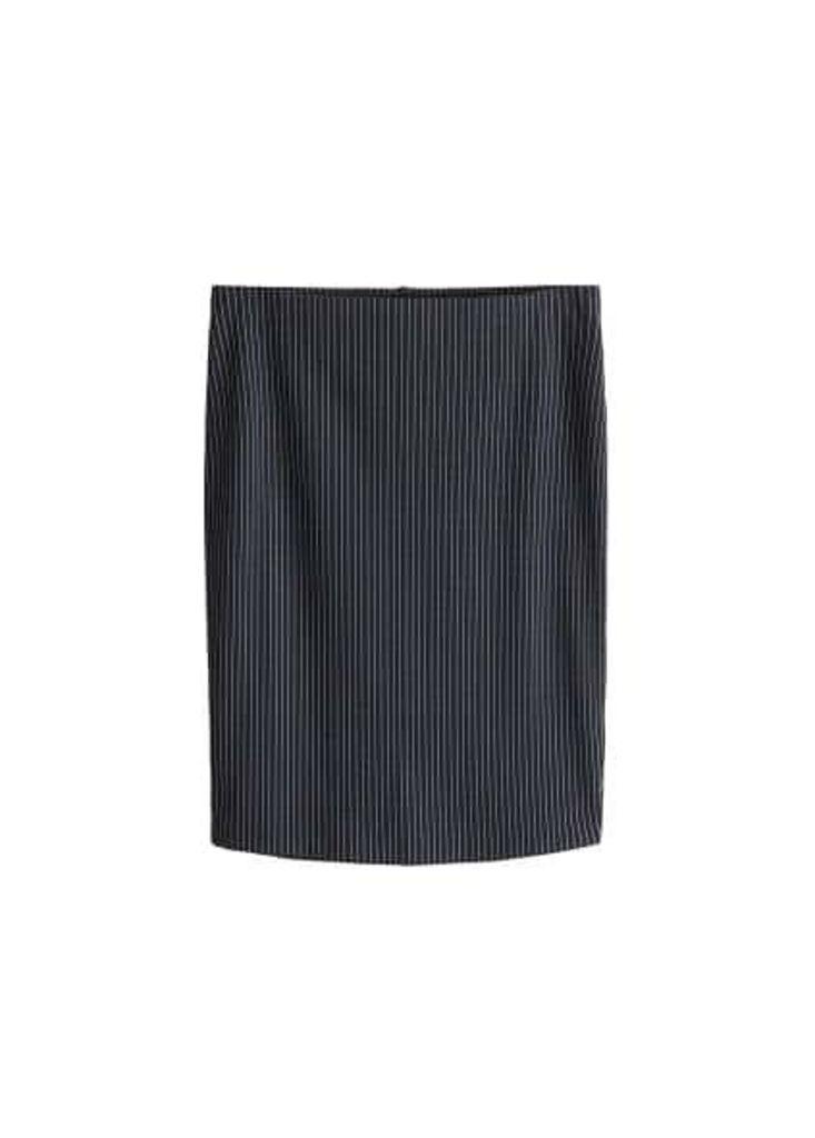 Pinstripe skirt