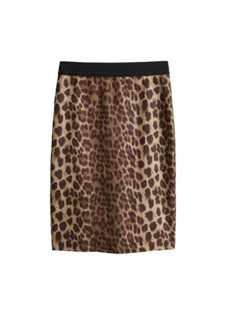 Animal pattern skirt