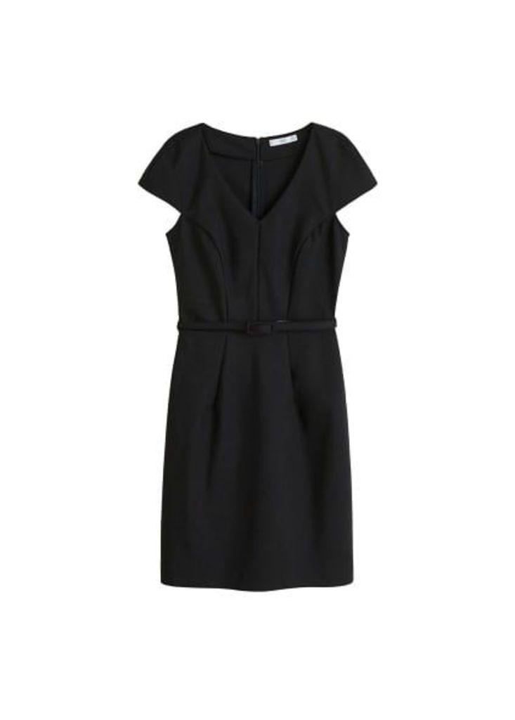 Belt cotton dress