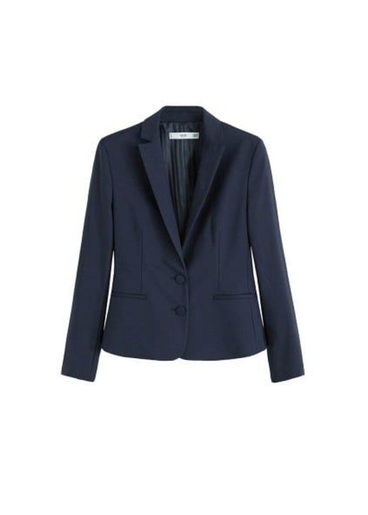 Structured cotton blazer