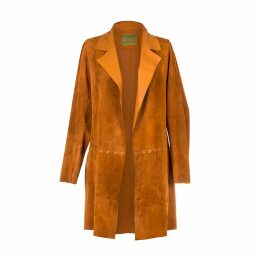PAISIE - Velvet Tie Wrap Dress With Gathered Shoulders In Blush