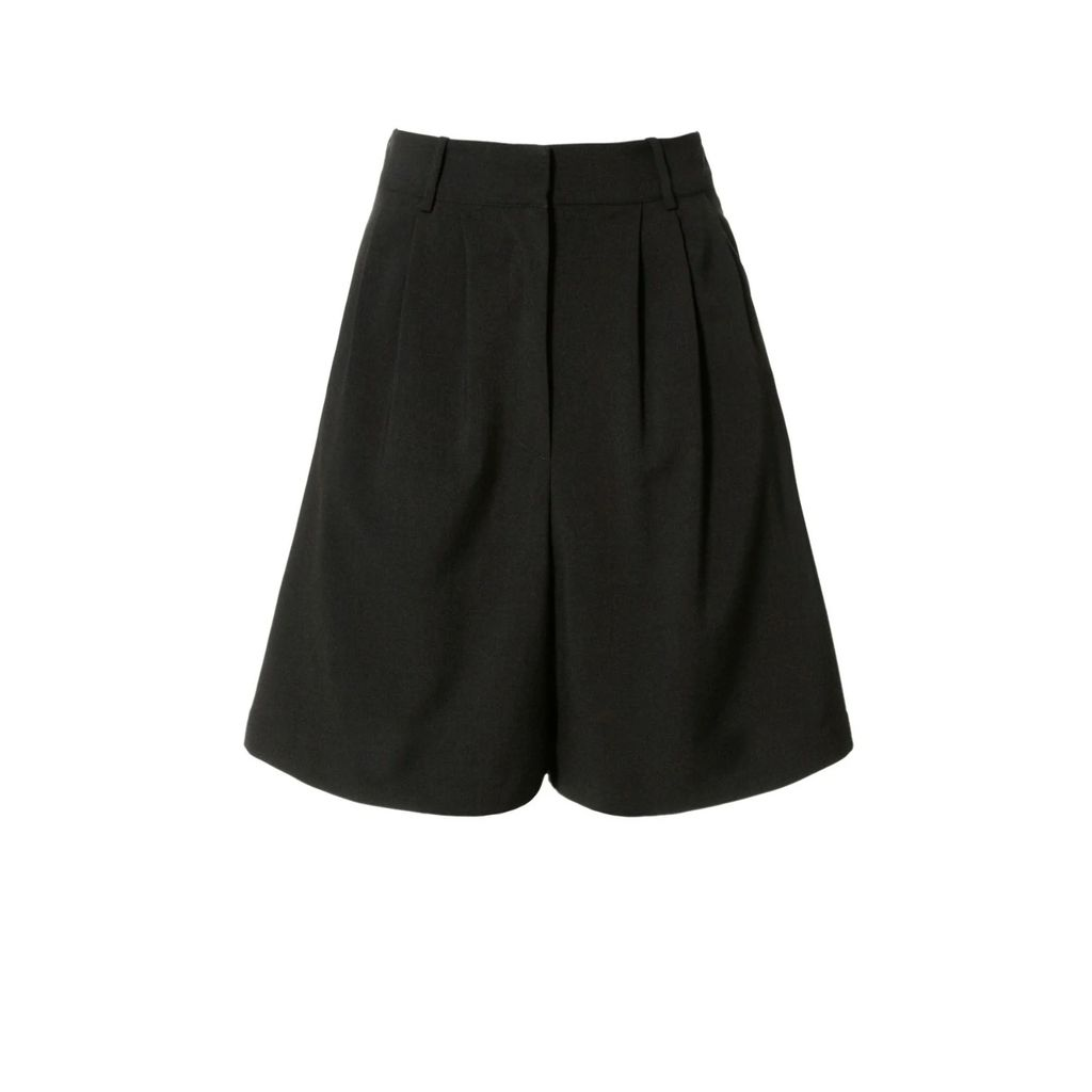 FG Atelier - Pleated Burgundy Viscose-Blend Crepe Dress