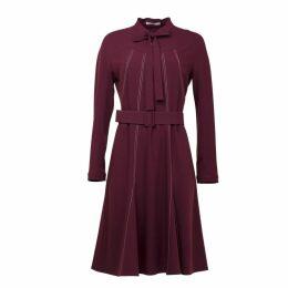 FG Atelier - Burgundy Viscose-Blend Crepe Dress