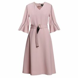 Emily Lovelock - Dress With Contrast Trim Pink