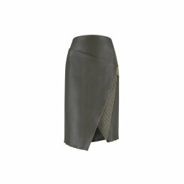 Nissa - Loose Dress With Golden Print & Butterfly Sleeves