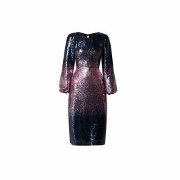 Rumour London - Celeste Midi Sequined Ombré Dress With Side Slits