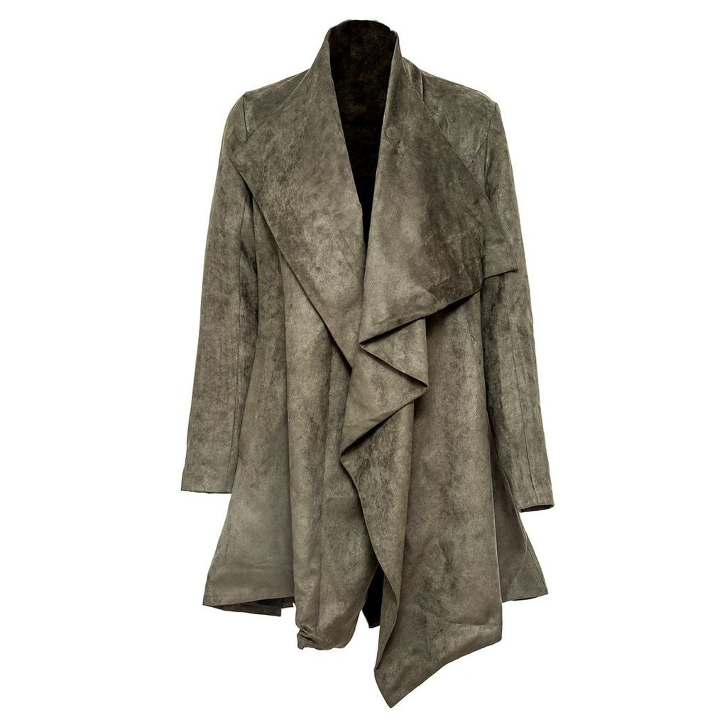 VHNY - Drape-Front Suede Jacket