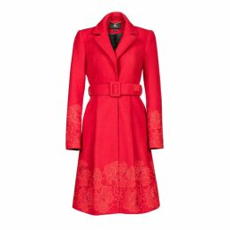 Nissa - Coat With Floral Details