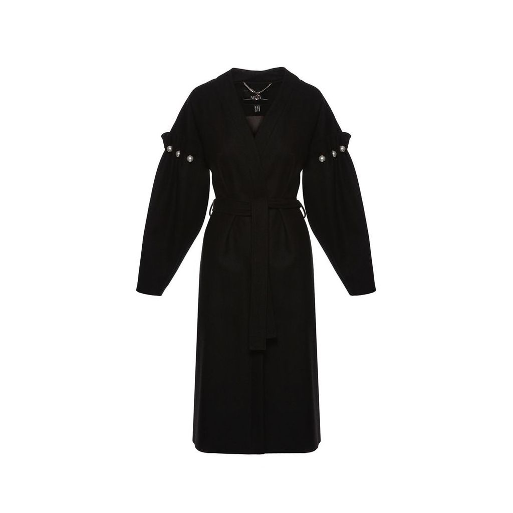 Nissa - Oversized Coat With Sleeves Details