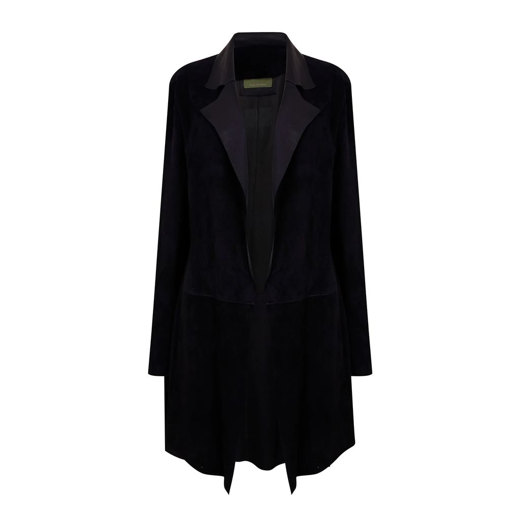 PAISIE - Striped Asymmetric Skirt With Side Drape In Navy Gold & White