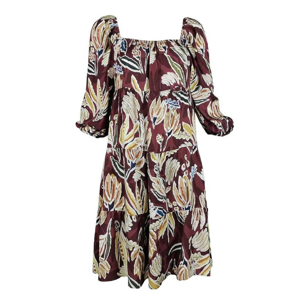 Nissa - Black Skirt With Oversized Buttons & Shiny Texture