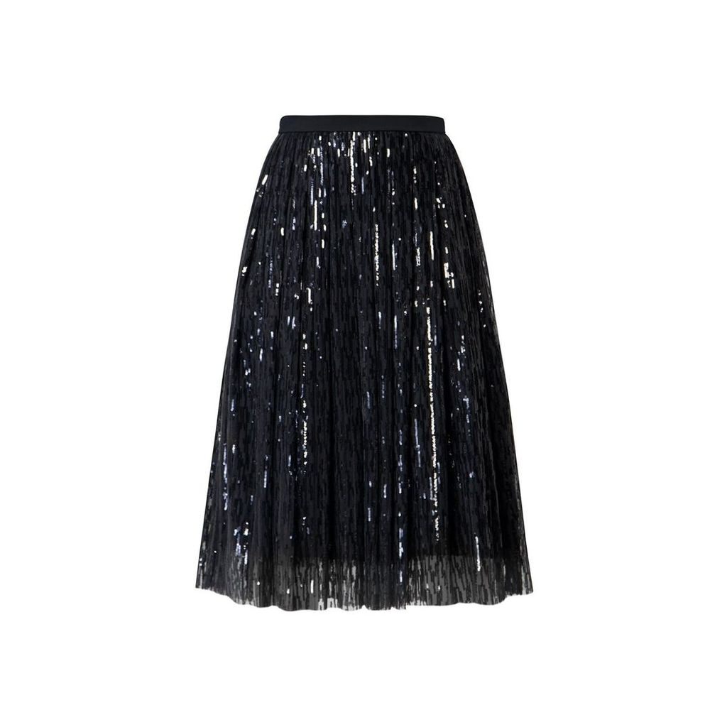 Rumour London - Fairy Midi Sequined Skirt In Black