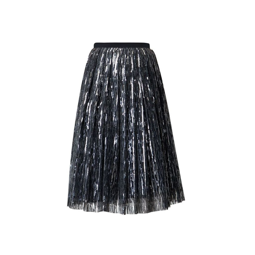 Rumour London - Fairy Midi Sequined Skirt In Silver